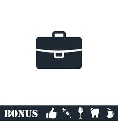 Briefcase icon flat vector