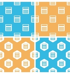 Calculator pattern set colored vector