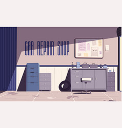 car repair shop cartoon vector image