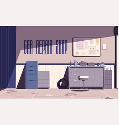 Car repair shop cartoon vector