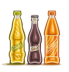 carbonated drinks vector image