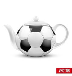 Ceramic Teapot In Soccer Ball Style Football vector