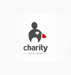 charity donation help creative symbol concept vector image