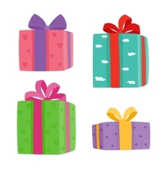 Christmas presents collection vector image