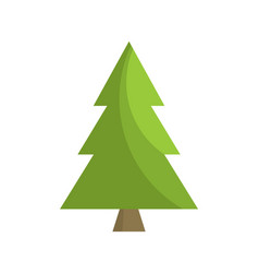christmas tree sign board spruce icon vector image