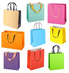 Color paper bags vector