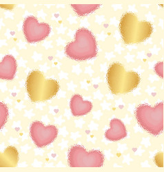 colored background with blurred hearts and stars vector image
