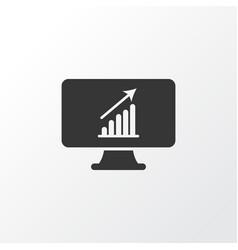 computer analytics icon symbol premium quality vector image