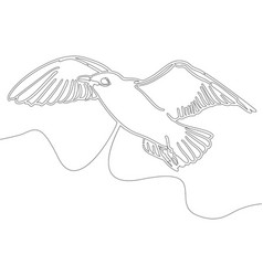 continuous line drawing bird design style vector image