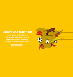 culture and traditions spain banner horizontal vector image