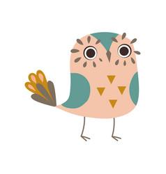 Cute funny owlet adorable owl bird vector