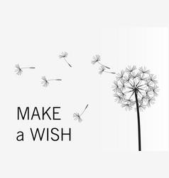 dandelion wish simple minimalist style vector image