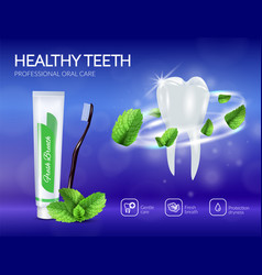 Dental care products realistic poster vector