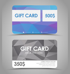 Design gift cards polygonal vector image