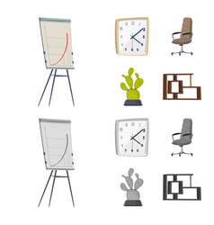 design of furniture and work symbol vector image