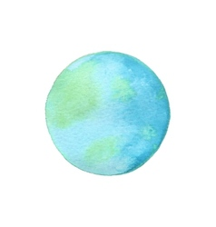 Earth globe of watercolor vector