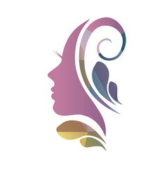 Face of a beautiful womans profile vector