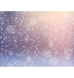Falling snow effect Winter festive background vector