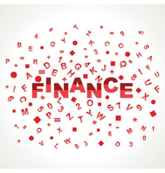 Finance word with in alphabets vector image