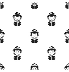 Fireman black icon for web and vector image