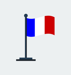 flag of franceflag stand vector image
