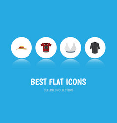 Flat icon garment set of brasserie elegant vector