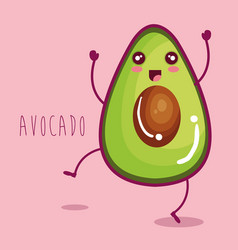 Fresh avocado vegetable character vector