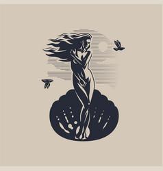 Goddess aphrodite or venus vector