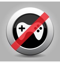 Gray chrome button - no game pad vector