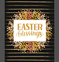 Hand lettering with inscription easter blessings vector