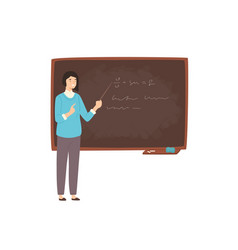 happy young female college teacher university vector image