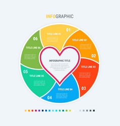 Infographic template love is in air 6 steps vector