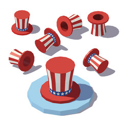 Isometric uncle sam hat vector