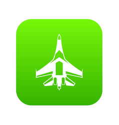 jet fighter plane icon digital green vector image
