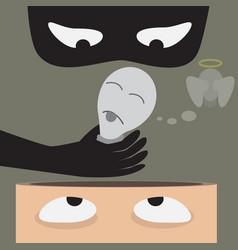 Kill bulb idea from aheadnegative thinking vector