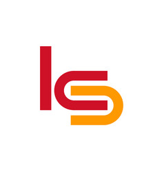 ks ics or lcs company logo template vector image