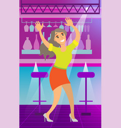 lady dancing in nightclub bachelorette vector image