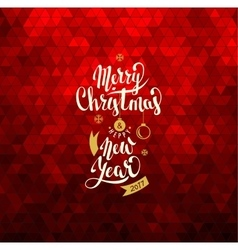 Merry Christmas and Happy New Year Lettering vector