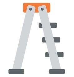 Metallic step ladder vector