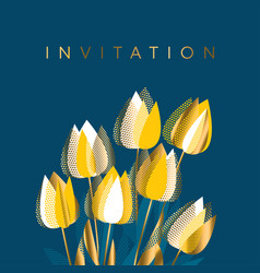 modern graphic yellow tulip flowers vector image