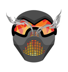 Paintball mask protective helmet scary sports vector