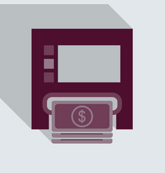 Payment through atm withdrawal of money via vector