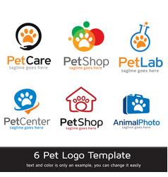 Pet logo template vector