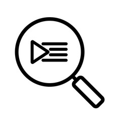 playlist search linear icon vector image