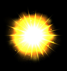 powerful bright explosion vector image vector image