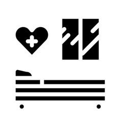 Prenatal ward maternity hospital icon glyph vector