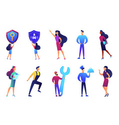professions and business people vector image