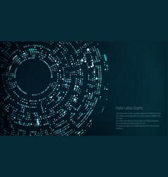 Radial lattice graphic design abstract vector