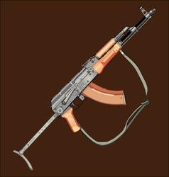 Realistic AK47 gun vector image