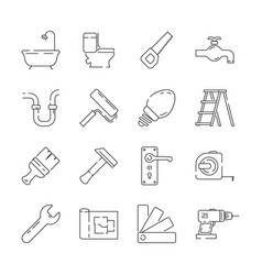 repair icon support service building construction vector image